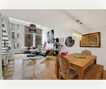 Duplex One Bedroom Loft in Chelsea with 15 foot ceilings